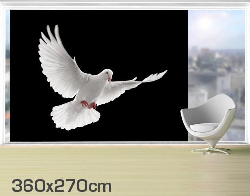 Produktfoto Fensterfolie - XXL Fensterbild Friedenstaube - Fenster Sichtschutz