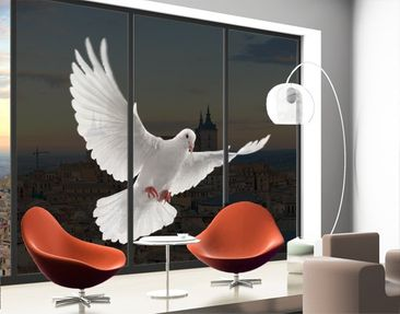 Produktfoto XXL Window Mural Dove Of Peace