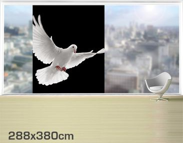 Product picture XXL Window Mural Dove Of Peace