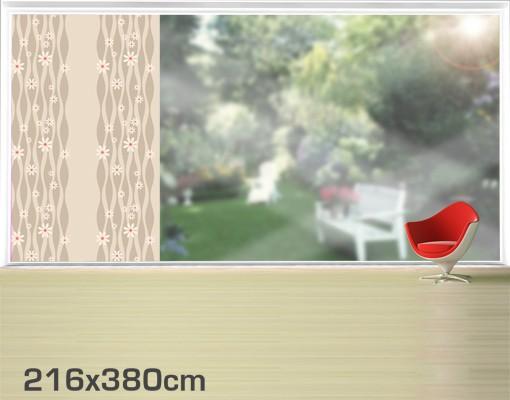 Produktfoto Fensterfolie - XXL Fensterbild Gänseblümchen - Fenster Sichtschutz
