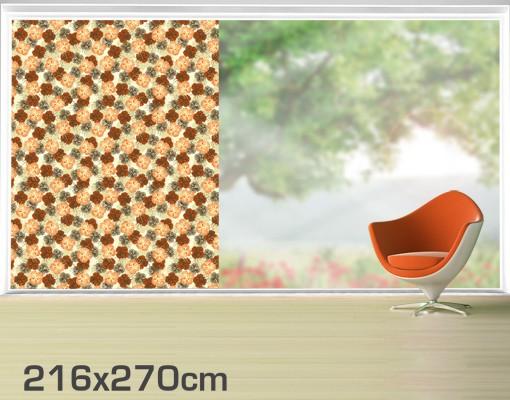 Produktfoto Fensterfolie - XXL Fensterbild Verzaubernder Hibiskus - Fenster Sichtschutz