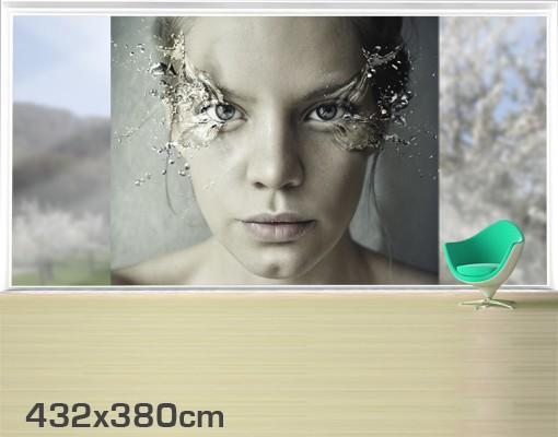 Produktfoto Fensterfolie - XXL Fensterbild Emotionale Frau - Fenster Sichtschutz