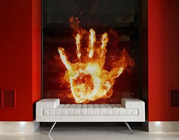 Product picture XXL Window Mural Flaming Identity