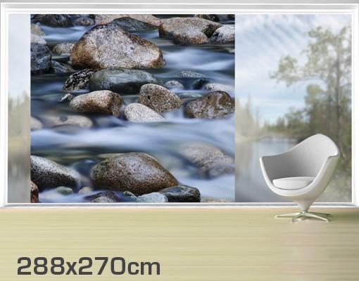 Produktfoto Fensterfolie - XXL Fensterbild Fluss in Kanada - Fenster Sichtschutz