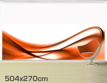 Product picture XXL Window Mural Orange Touch