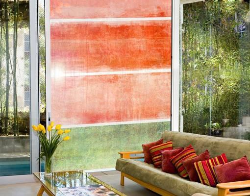 Produktfoto Fensterfolie - XXL Fensterbild Colour Harmony Red - Fenster Sichtschutz