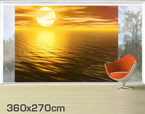 Produktfoto Fensterfolie - XXL Fensterbild Golden Sunrise - Fenster Sichtschutz