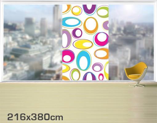 Produktfoto Fensterfolie - XXL Fensterbild Happy Eggs - Fenster Sichtschutz