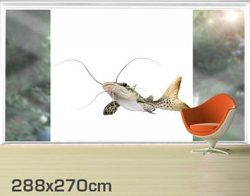 Product picture XXL Window Mural Catfish