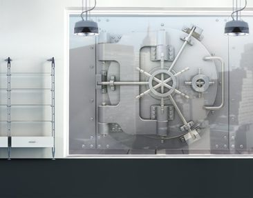Product picture XXL Window Mural Bank Vault