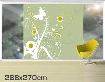 Product picture XXL Window Mural Dancing Butterflies
