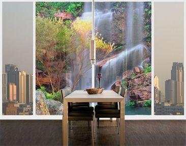 Produktfoto Fensterfolie - XXL Fensterbild Summer Fairytale - Fenster Sichtschutz