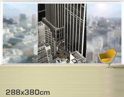 Produktfoto Fensterfolie - XXL Fensterbild NYC 5pm - Fenster Sichtschutz