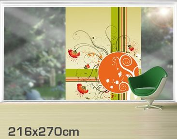 Product picture XXL Window Mural Circle Flower