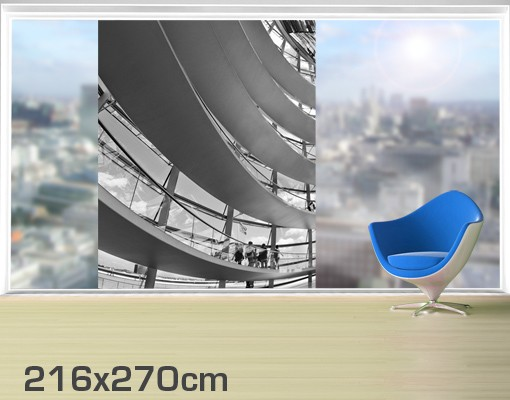 Produktfoto Fensterfolie - XXL Fensterbild Im Berliner Reichstag II - Fenster Sichtschutz