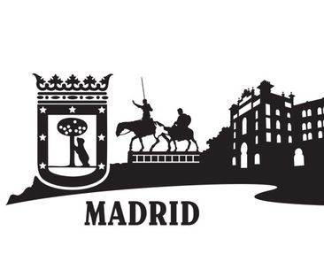 Product picture Wall Decal no.MW107 Skyline Madrid