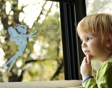 Produktfoto Fensterfolie - Fenstertattoo No.RY1 Wunschtext Elfenname - Milchglasfolie