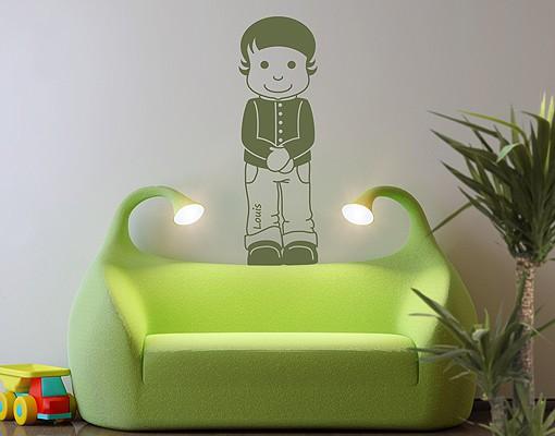 Produktfoto Wandtattoo Babyzimmer No.RY2 Wunschtext Louis