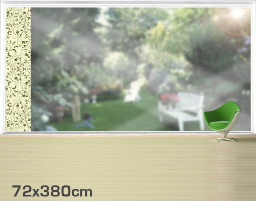 Produktfoto Fensterfolie - XXL Fensterbild The 12 Muses - Melete - Fenster Sichtschutz
