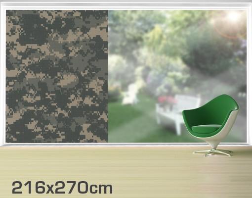 Produktfoto Fensterfolie - XXL Fensterbild Camouflage - Fenster Sichtschutz