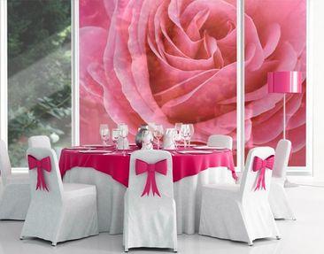 Produktfoto Fensterfolie - XXL Fensterbild Lustful Pink Rose - Fenster Sichtschutz