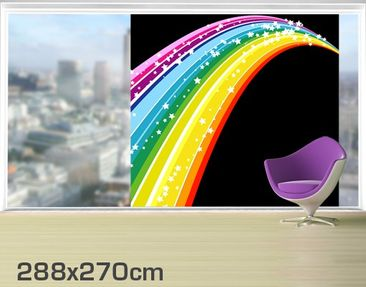 Product picture XXL Window Mural Rainbow