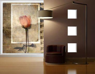 Produktfoto Fensterfolie - XXL Fensterbild Inner Rose - Fenster Sichtschutz
