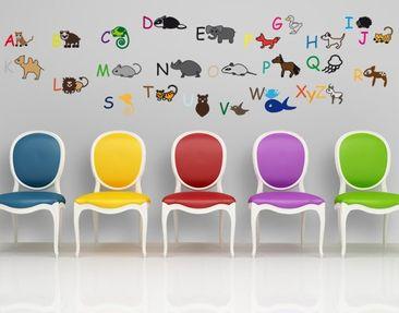 Produktfoto Wall Decal no.CG214 Animal Alphabet
