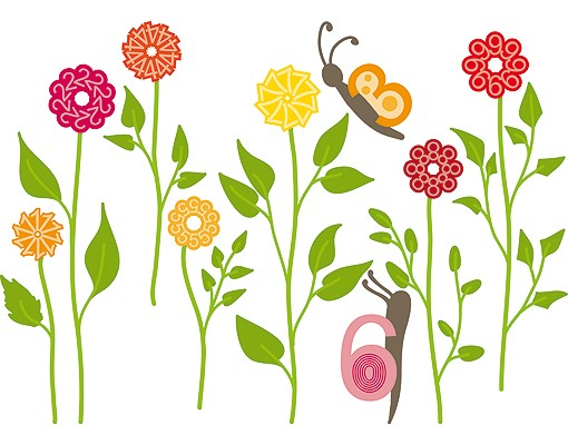 Produktfoto Wandtattoo Schmetterling No.RS141 Zahlenblumen