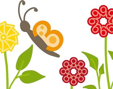 Product picture Window Sticker no.RS141 Number-Flowers