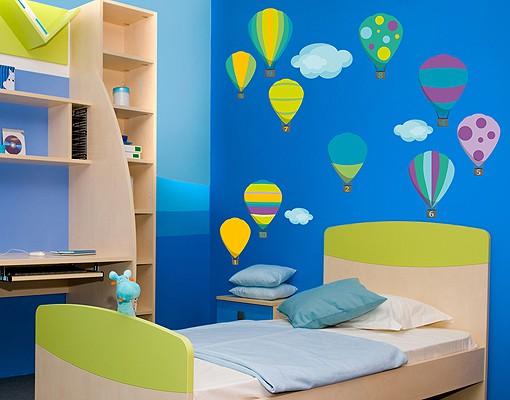 Produktfoto Wandtattoo Babyzimmer No.RS142 Zahlenballons