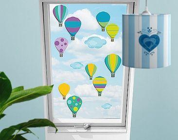 Produktfoto Window Sticker no.RS142 Number-Balloons