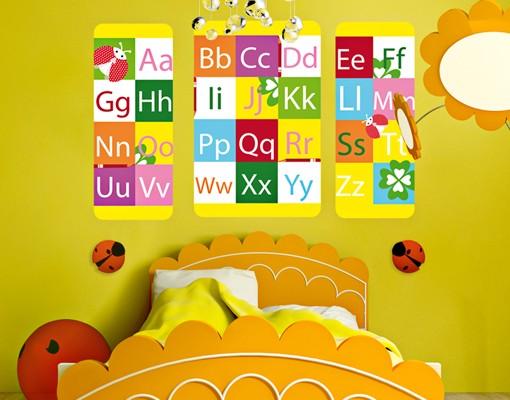 Produktfoto Selbstklebendes Wandbild No.KK2 Farbenfrohes ABC Triptychon II