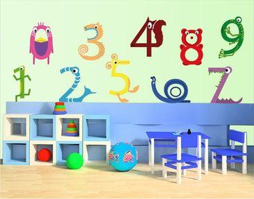 Produktfoto Wandtattoo Kinderzimmer No.KK5 Tierzahlen