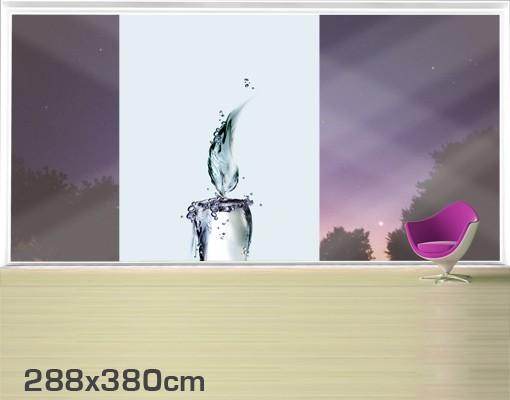 Produktfoto Fensterfolie - XXL Fensterbild Kalte Flamme - Fenster Sichtschutz