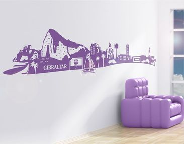 Product picture Wall Decal no.MW117 Skyline Gibraltar