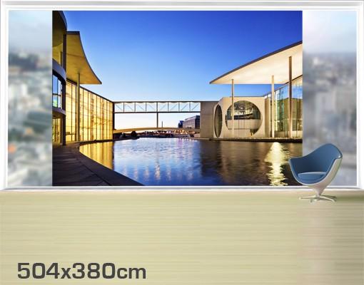 Produktfoto Fensterfolie - XXL Fensterbild Regierungsviertel Berlin - Fenster Sichtschutz
