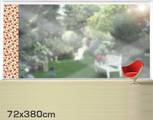 Produktfoto Fensterfolie - XXL Fensterbild Ornamentblüten - Fenster Sichtschutz