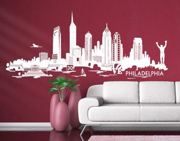 Product picture Wall Decal no.DM9 Philadelphia Skyline