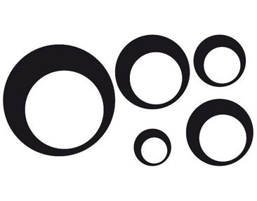 Product picture Window Sticker no.1154 Circles III 5s...