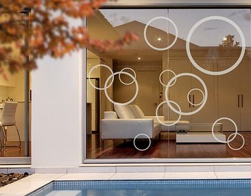 Produktfoto Window Sticker no.1180 Circles III 12s...