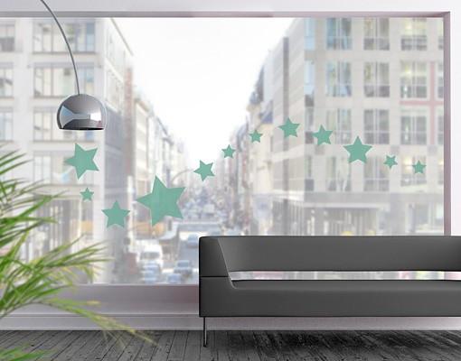 Produktfoto Fensterfolie - Fenstertattoo No.1171 Sterne I 12er Set - Milchglasfolie