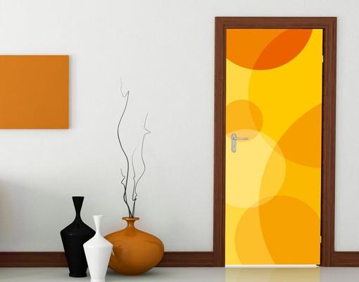 "Produktfoto Fototapete Tür - Papier No.33 ""RETRO CIRCLES"" 100x210cm"