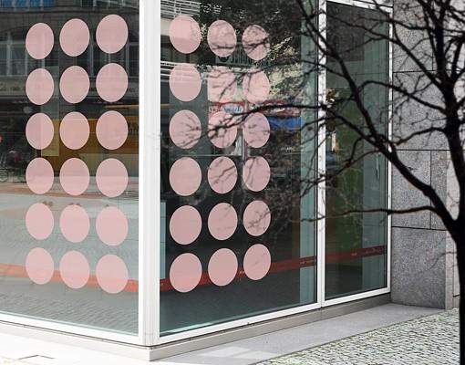 Produktfoto Fensterfolie - Fenstertattoo No.1160 Kreise I 36er Set - Milchglasfolie