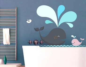 Produktfoto Wall Decal no.EK146 Happy Whales