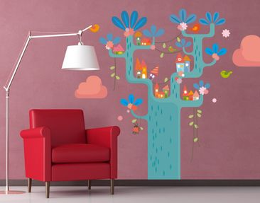 Product picture Wall Decal no.EK153 Play Tree