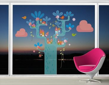 Produktfoto Fensterfolie - Fenstersticker No.EK153 Spielbaum - Fensterbilder