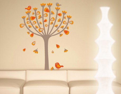 wandtattoo babyzimmer wald baum no ek145 herbstv gel. Black Bedroom Furniture Sets. Home Design Ideas