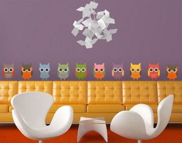 Product picture Wall Decal no.EK147 Owl Parade