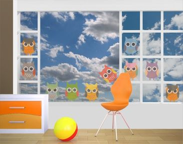 Product picture Window Sticker no.EK147 Owl Parade